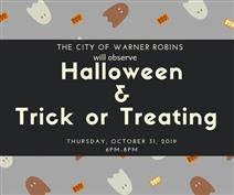 Trick or treating date and time